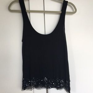American Eagle Outfitters Black Sparkle Tank